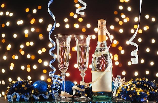 Celebração de ano novo Foto Premium