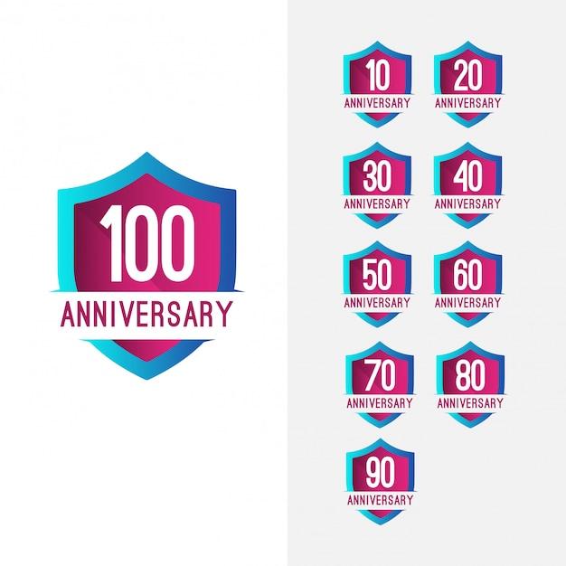 Celebração do aniversário de 100 anos Foto Premium