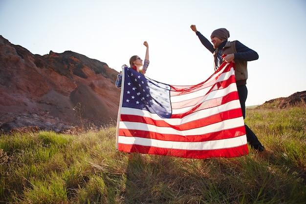 Celebrando a liberdade americana Foto gratuita