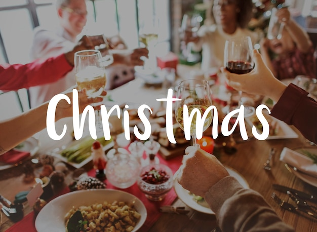 Celebration christmas felicidades felicidades Foto gratuita