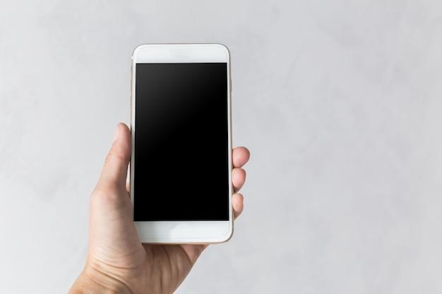 Celular, smartphone com tela preta em branco Foto Premium