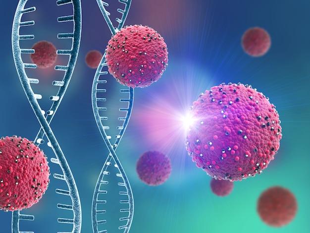Células virais abstratas e filamentos de dna Foto gratuita
