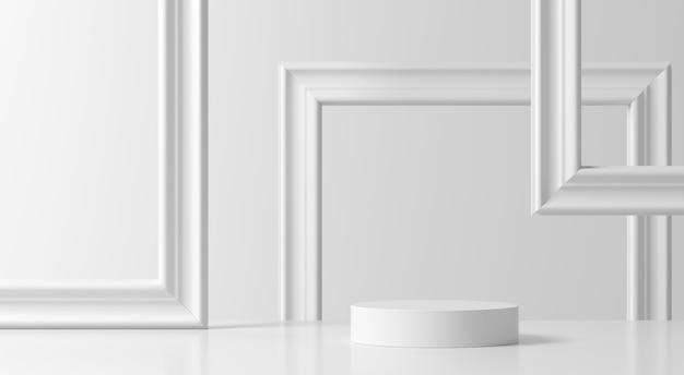 Cena abstrata. fundo de pódio de forma geometria para produto Foto Premium