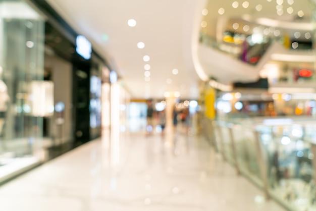 Cena borrada no shopping de luxo Foto Premium