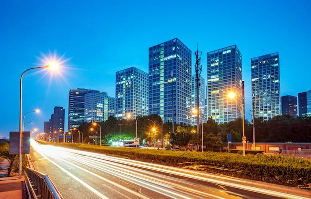 Cena da noite da cidade de beijing Foto Premium