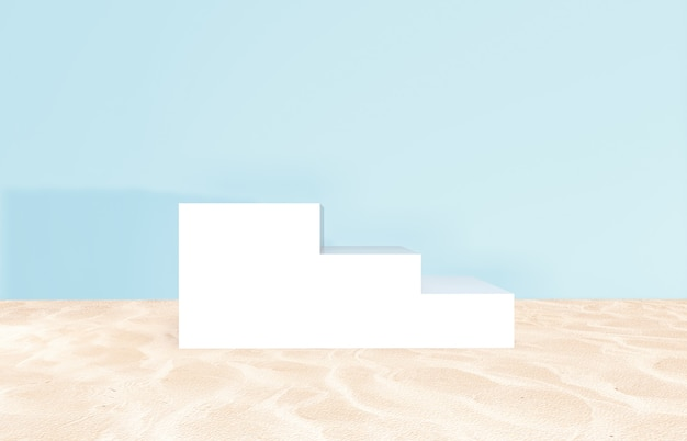 Cenário de praia de verão para exposição do produto Foto Premium
