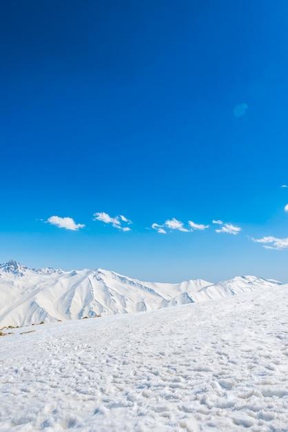 Cenário panorâmico branco férias frias Foto gratuita
