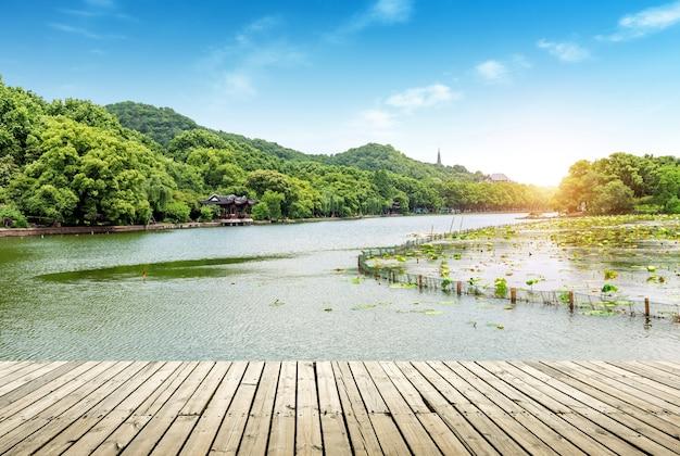 Cenário west lake hangzhou Foto Premium
