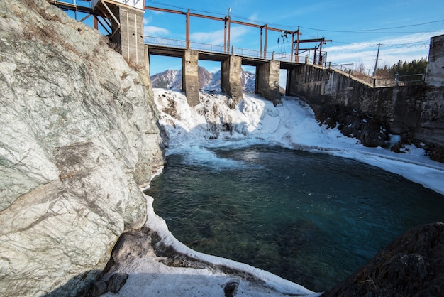 Central hidroeléctrica Foto Premium