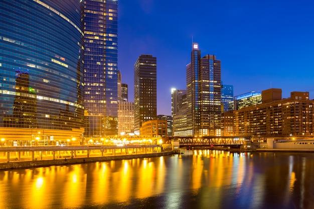 Centro de chicago Foto Premium