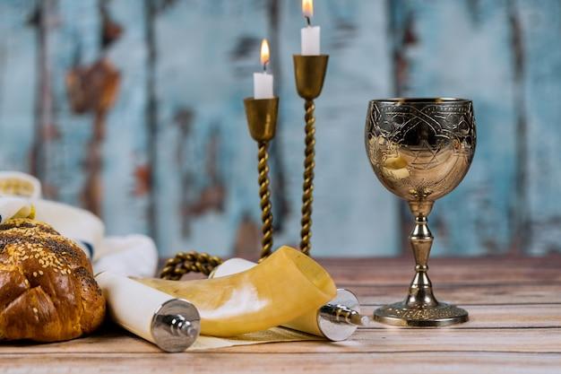 Cerimônia de havdala no final do sábado judaico Foto Premium