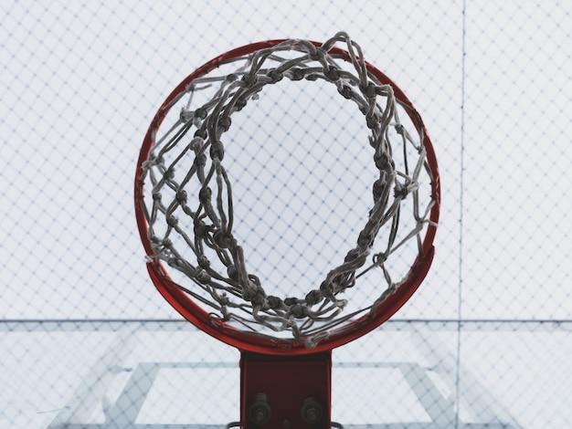 Cesta de basquete e rede Foto Premium