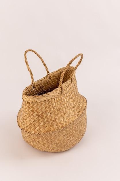 Cesta de sacola ecológica isolada Foto Premium