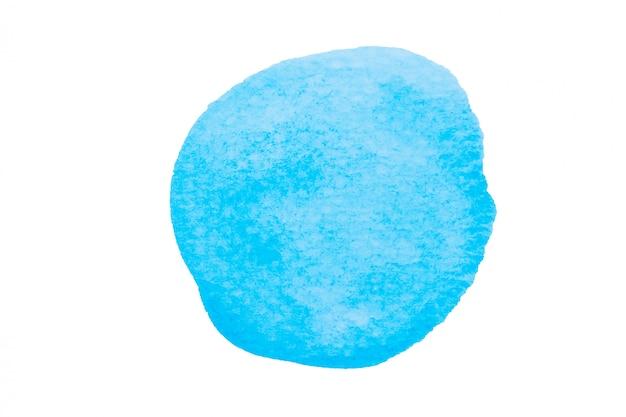 Céu azul aquarela, manchas azuis claras, isoladas no fundo branco com traçado de recorte Foto Premium
