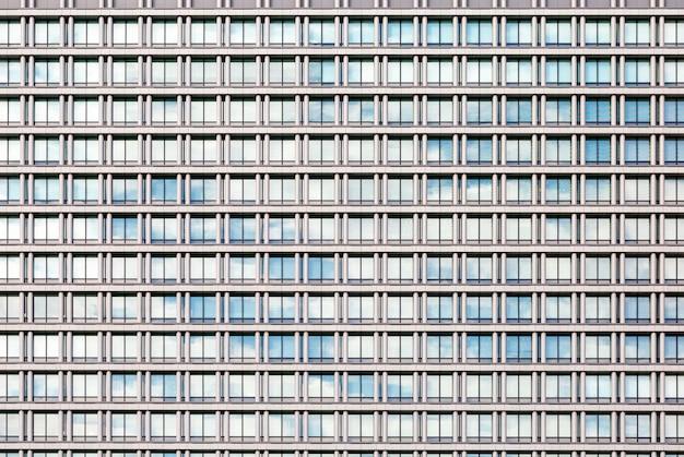 Céu, e, nuvens, refletido dentro, um, modernos, predios, vidro, fachada Foto Premium