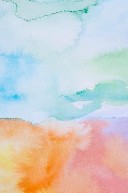 Céu em dia abstrato aquarela Foto Premium