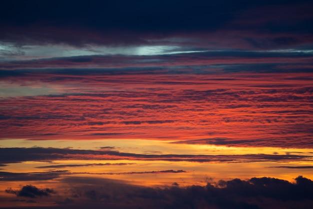 Céu noturno após a hora do pôr do sol Foto Premium