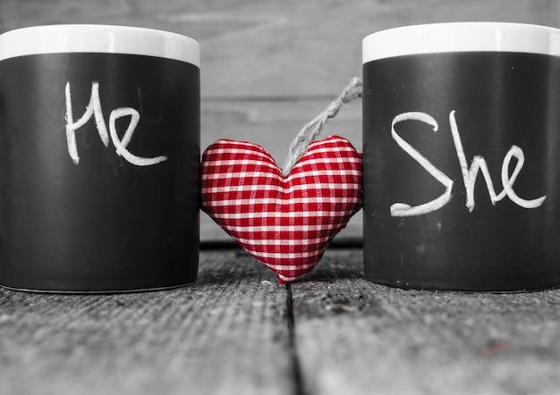 Chá de dia dos namorados Foto Premium