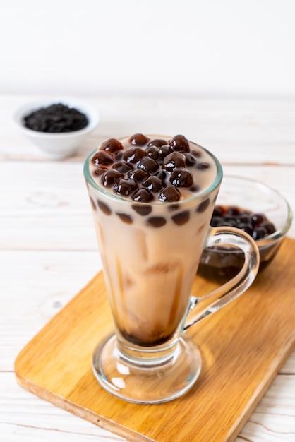 Chá de leite de taiwan com bolha Foto Premium