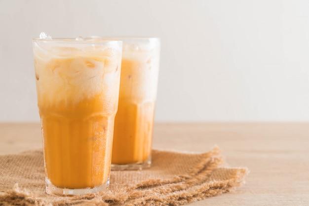 Chá de leite tailandês Foto Premium