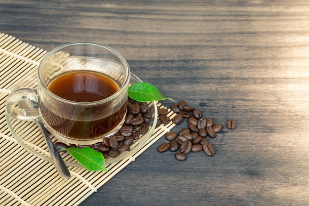 Chá e café em grão Foto Premium