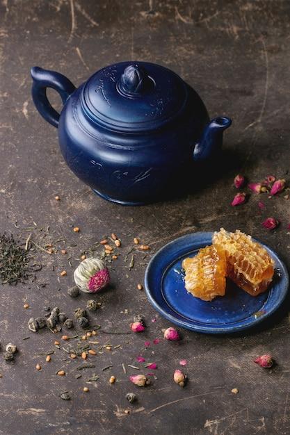 Chá e mel Foto Premium