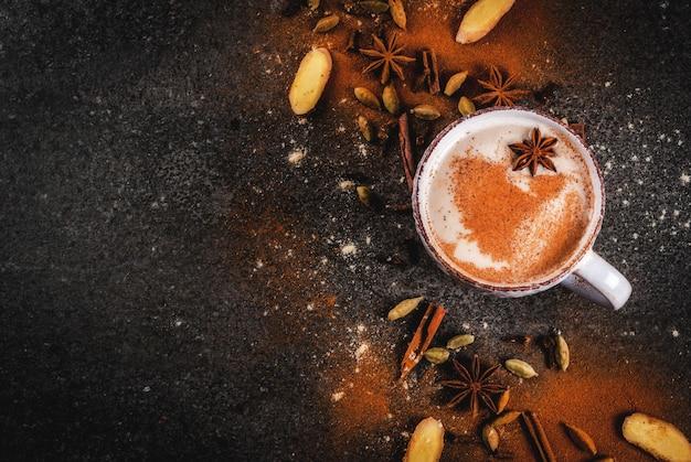 Chá indiano tradicional masala chai Foto Premium
