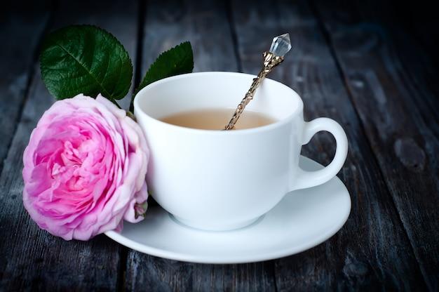 Chá no estilo shabby chic Foto Premium