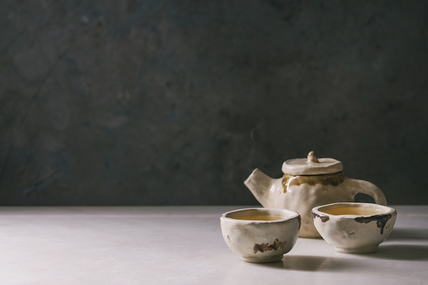 Chá verde quente Foto Premium