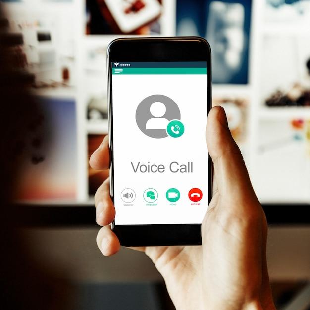 Chamada de voz Foto Premium