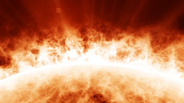 Chamas de plasma coronal do sol Foto Premium