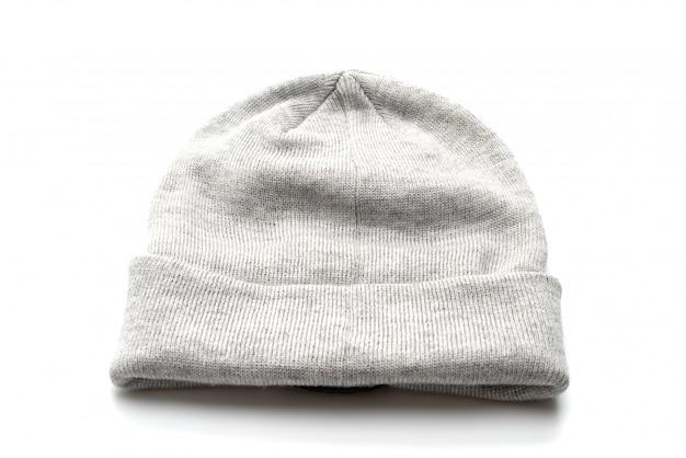 Chapéu de lã cinza Foto Premium