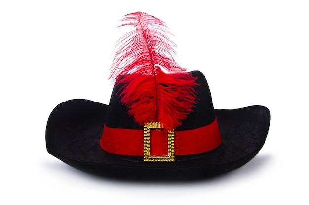 Chapéu de pirata isolado no branco Foto Premium