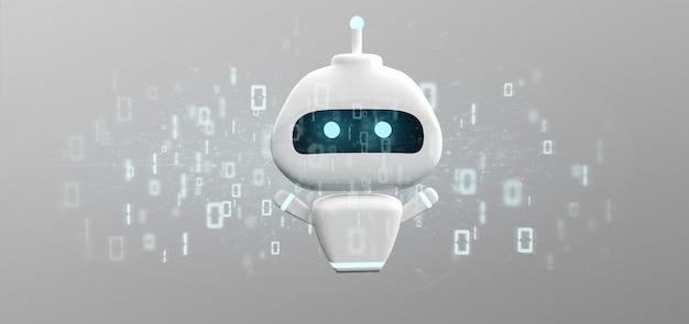 Chatbot com código binário Foto Premium
