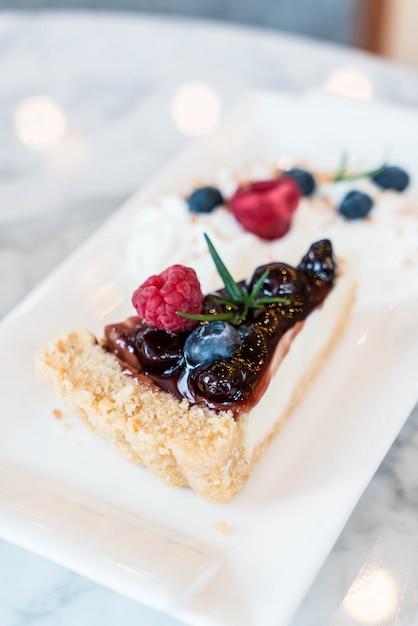 Cheesecake de mirtilo Foto Premium
