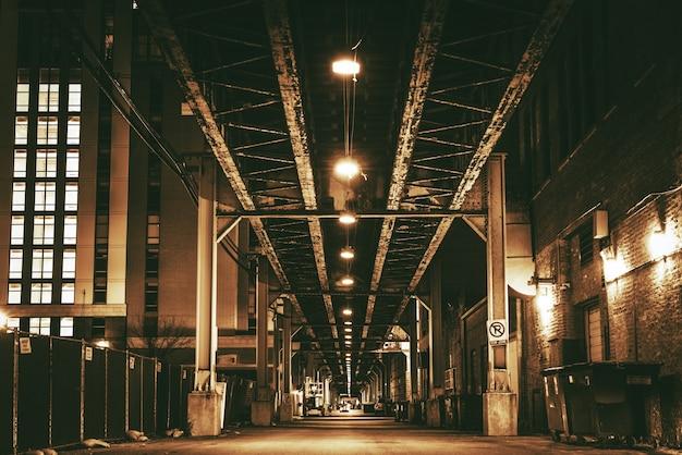 Chicago city train bridge Foto gratuita