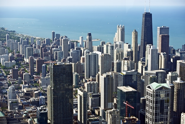Chicago downtown bird eye Foto gratuita
