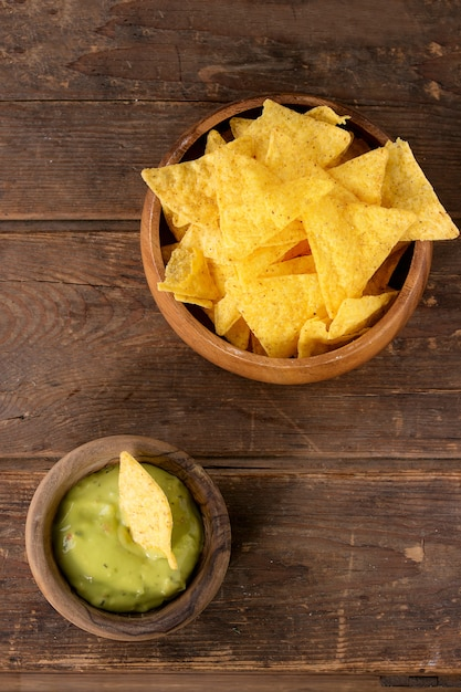 Chips de nachos mexicanos Foto Premium