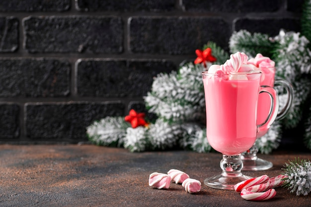 Chocolate quente rubi ou cacau rosa Foto Premium