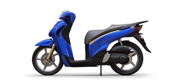 Ciclomotor azul urbano moderno Foto Premium