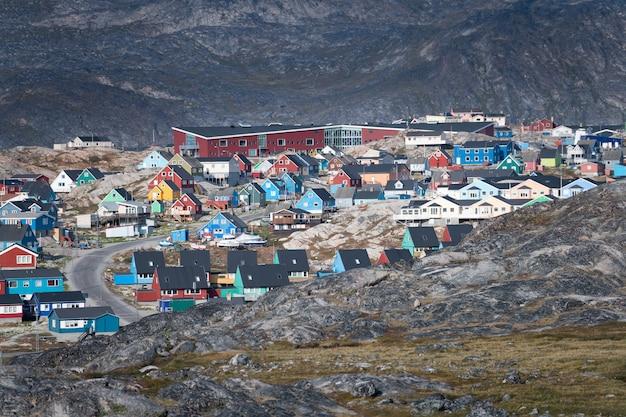 Cidade de ilulissat na groenlândia Foto Premium