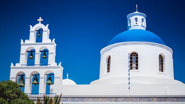 Cidade de oia na ilha de santorini, grécia. Foto Premium