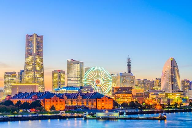Cidade do horizonte de yokohama Foto gratuita