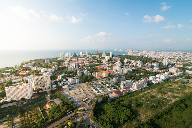 Cidade scapes pattaya tailândia Foto Premium