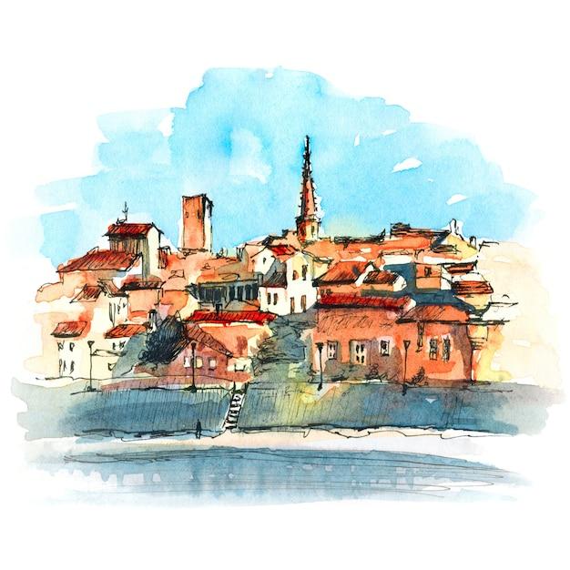 Cidade velha de arles, sul da frança Foto Premium