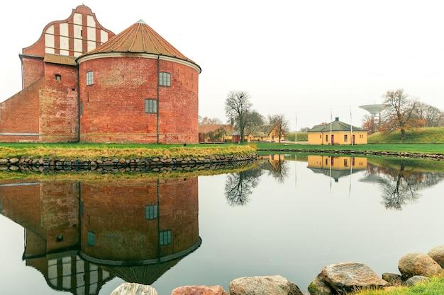 Cidadela de landskrona na região de skane da suécia. Foto Premium