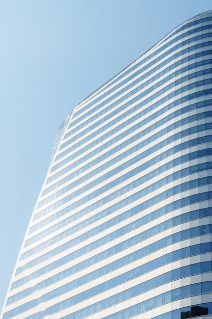 Cima, baixo, cidade, negócio, predios Foto Premium