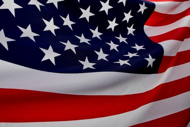 Cima, bandeira americana onda Foto Premium