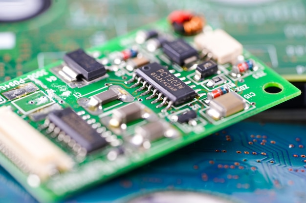 Circuito de computador cpu main board electronics device Foto Premium