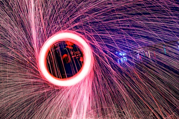 círculo brilhante fogo Foto gratuita